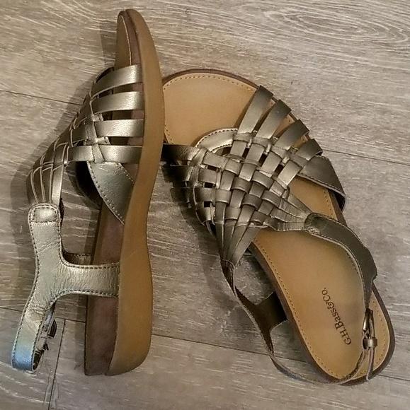 2a2255a6d3e6 G H. Bass   co Shoes - New BASS metallic gold kat sandals size 6.5